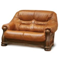 ベルギー製 革張りソファ